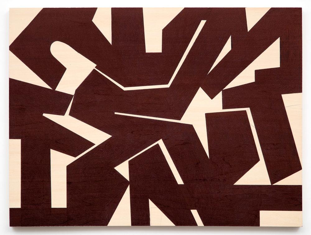 Untitled #33  2017, 18x24 in, ballpoint pen on wood panel