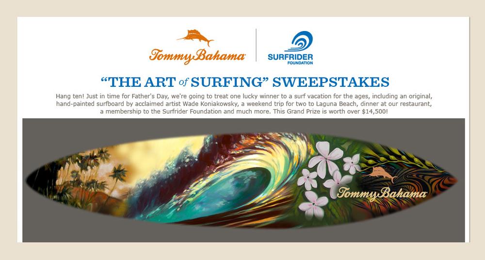 Tommy Bahama Surfboard