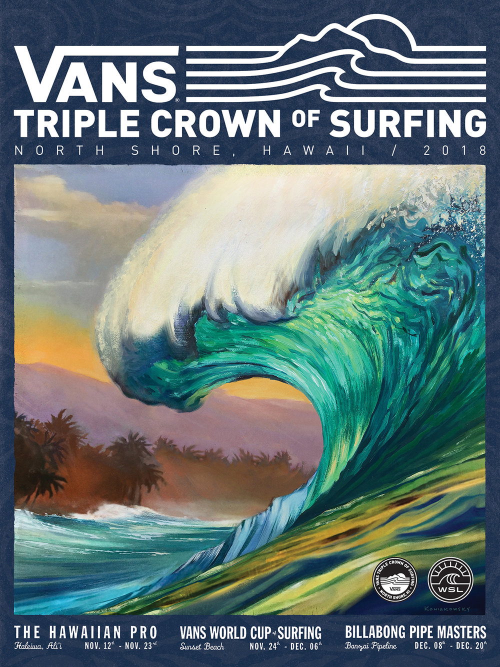 82e55167a3 I got the call from Vans about 18 months ago to begin work on this year s Triple  Crown of Surfing art