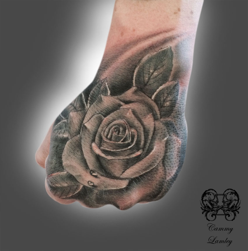 Rose Tattoo On Hand: Hand-rose.jpg