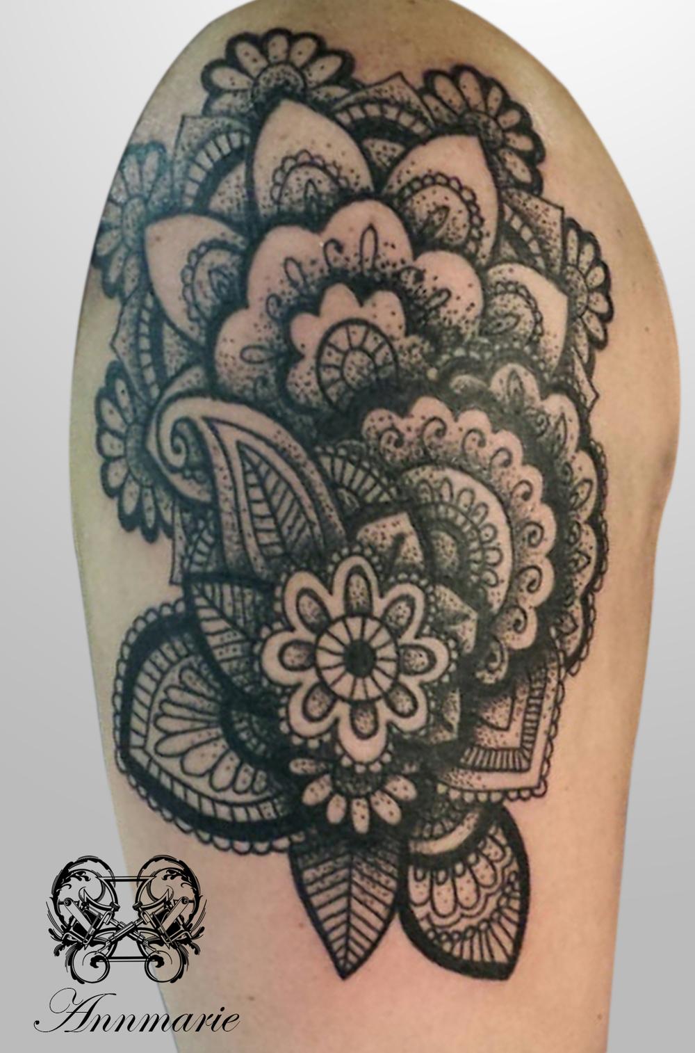 Henna Mehndi Glasgow : Mehndi sleeve in progress g