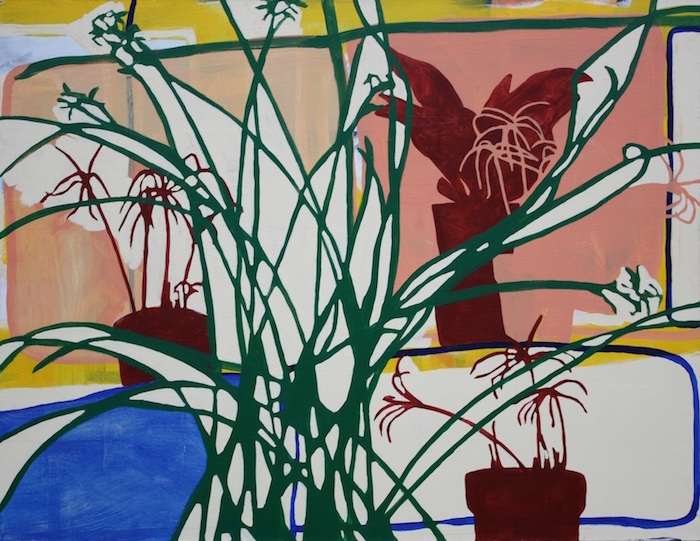 "Houseplants , 2014, acrylic on canvas, 48"" x 60"""