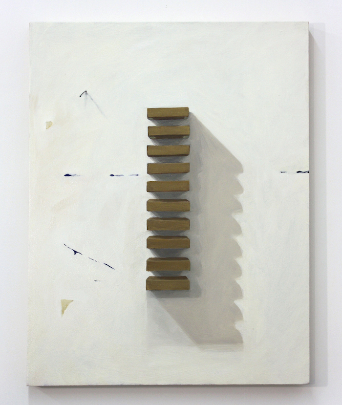 "Untitled (Judd Painting) , 2014, oil on canvas, 32"" x 24"""