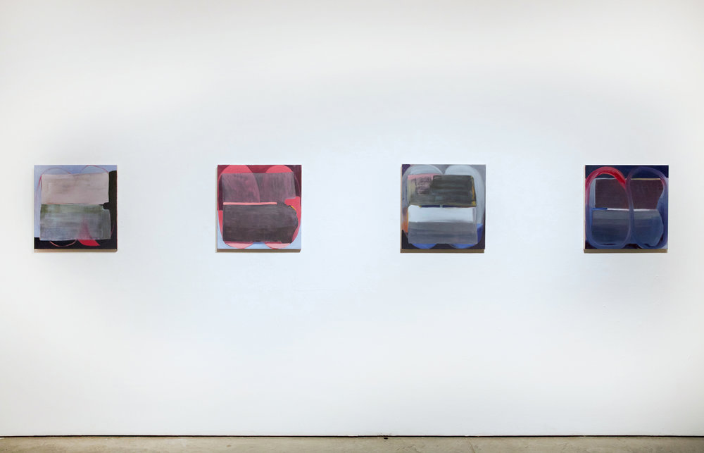 """Vision Block No.1-4, 2016, oil on canvas, 20""""x20"""" (each)"""