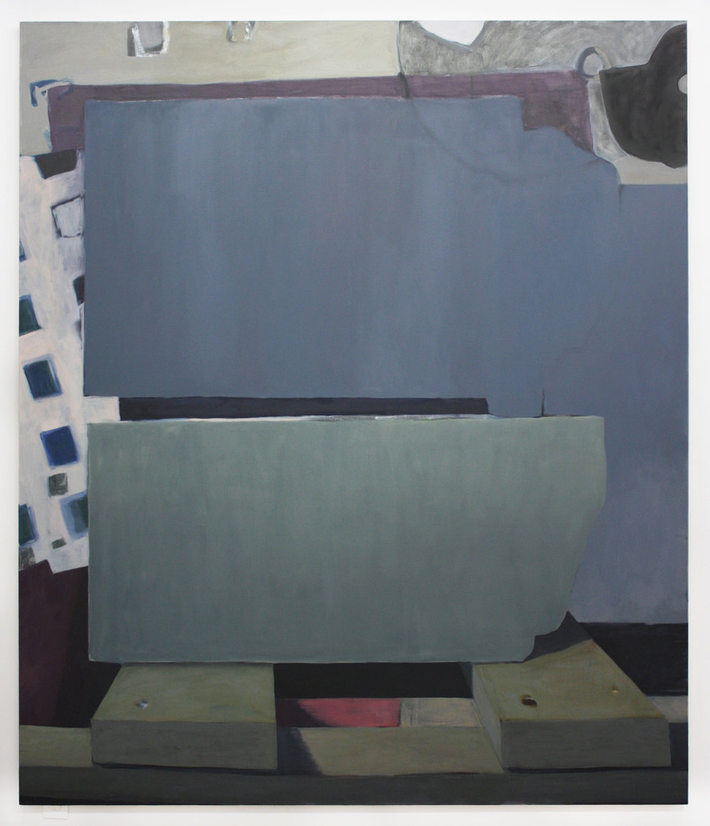 "Resting Obstruction, 2015-16, oil on canvas, 84""x72"""