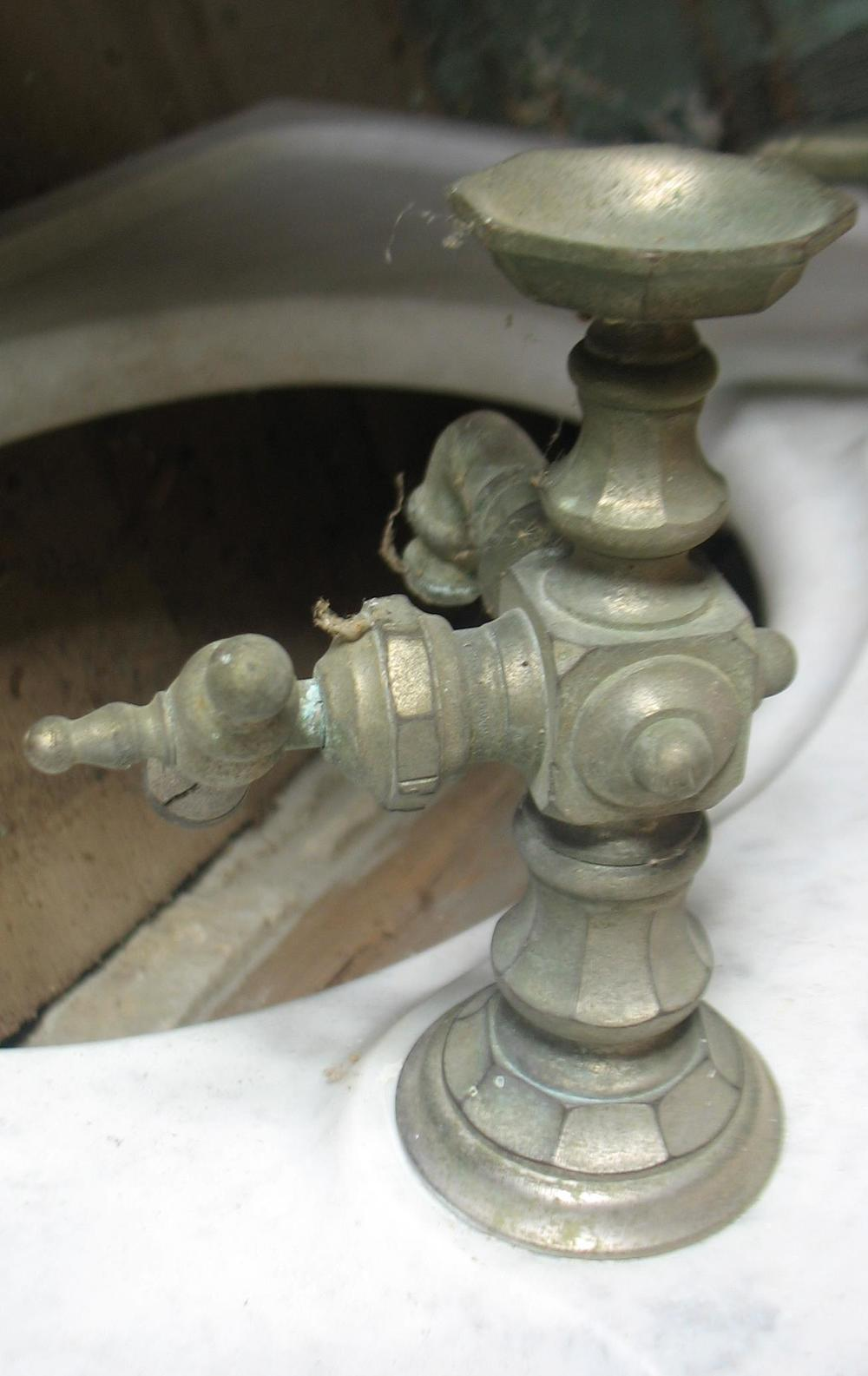 This shows detail of the original nickel hardware  very unusual and unique. Bathroom Pieces   Sycamore HomeStead