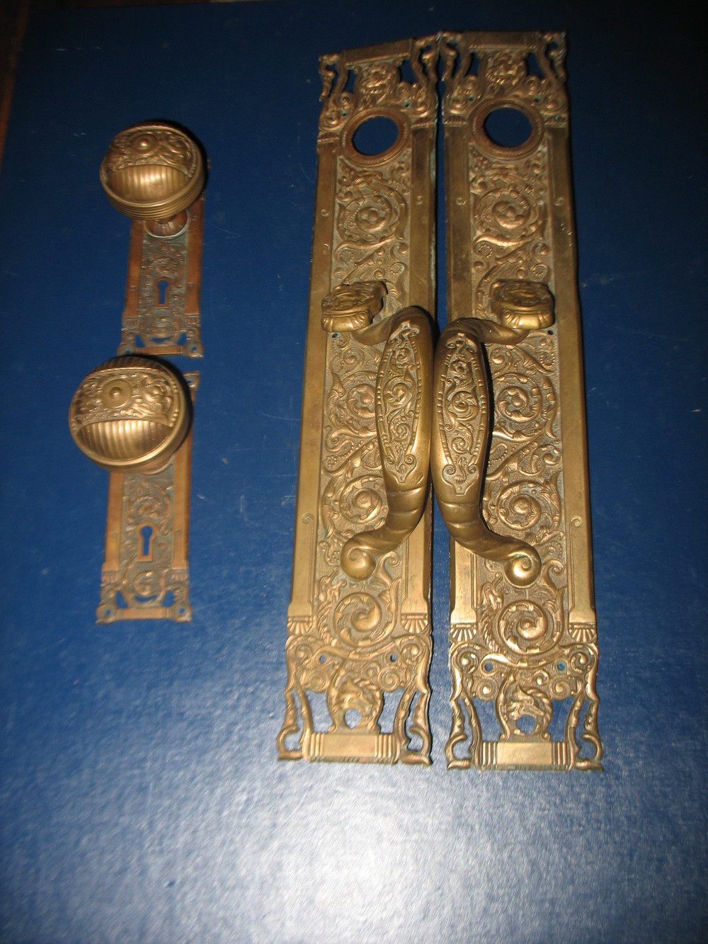 This bronze Entry Door Set is authentic antique door hardware at its very  best! The - Hardware — Sycamore HomeStead