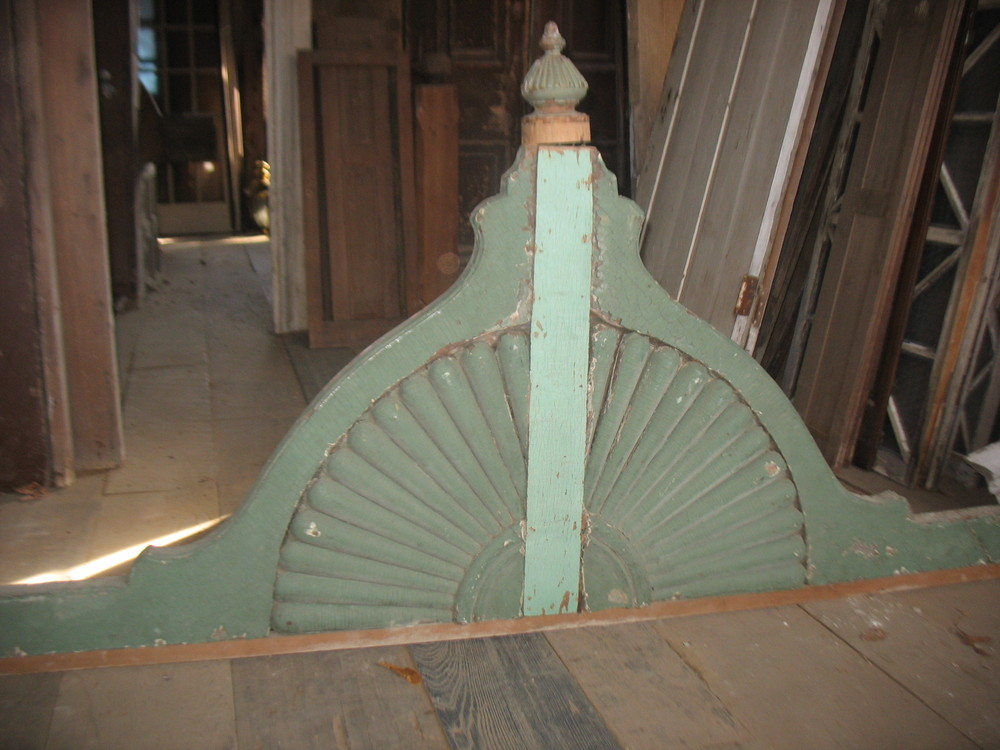 Wooden heavily carved 'fan'. Great for wall hanging.