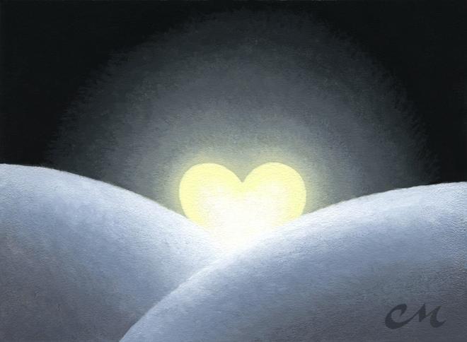 Moonrise, Acrylic on Panel, 6 x 8 inches