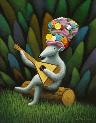 Musician 2, Acrylic on Panel, 8 x 10 inches
