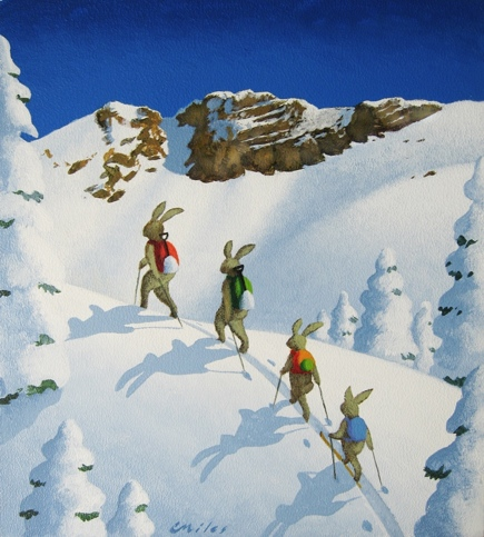 Happy Wanderers, Acrylic on Panel, 9 x 11 inches