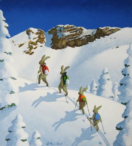 Happy Wanderers, Acrylic on Panel, 9 x 11 inches