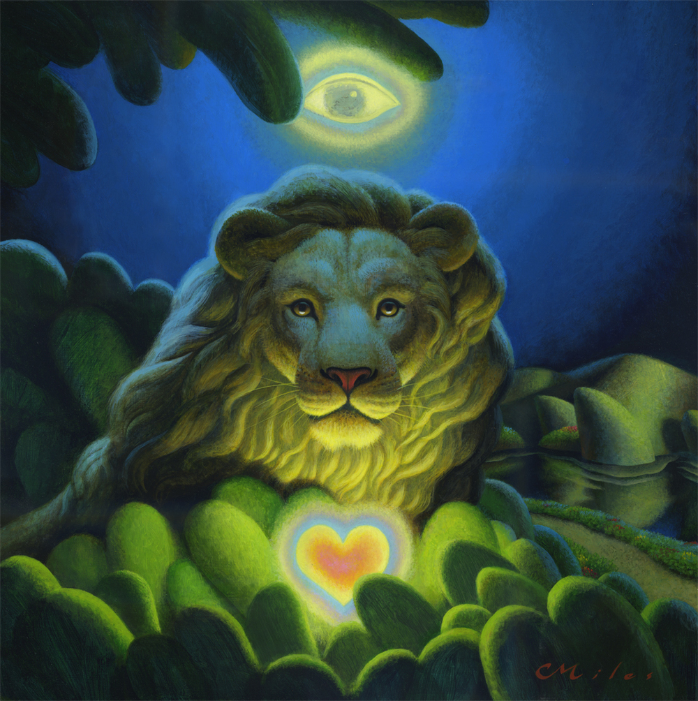 Love, Strength, Wisdom, Acrylic on Panel, 18 x 18 inches