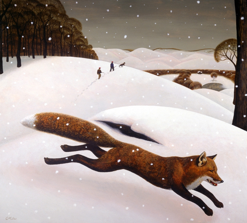 The Fox, Acrylic on Panel, 30 x 33 inches