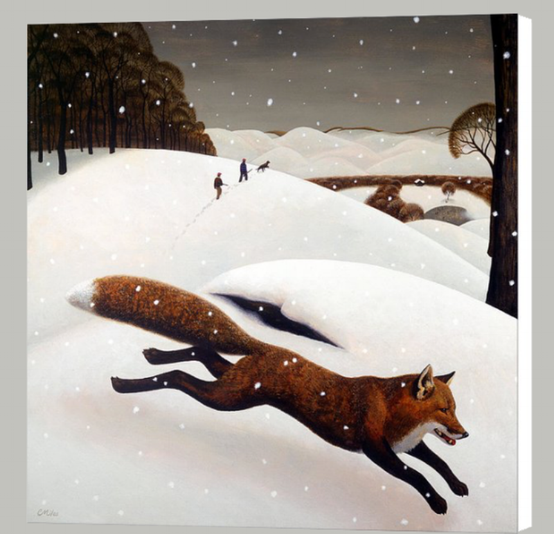 The Fox. 27 x 30 inch Gallery Wrap with white sides. This is the same size as the original painting, which is sold.
