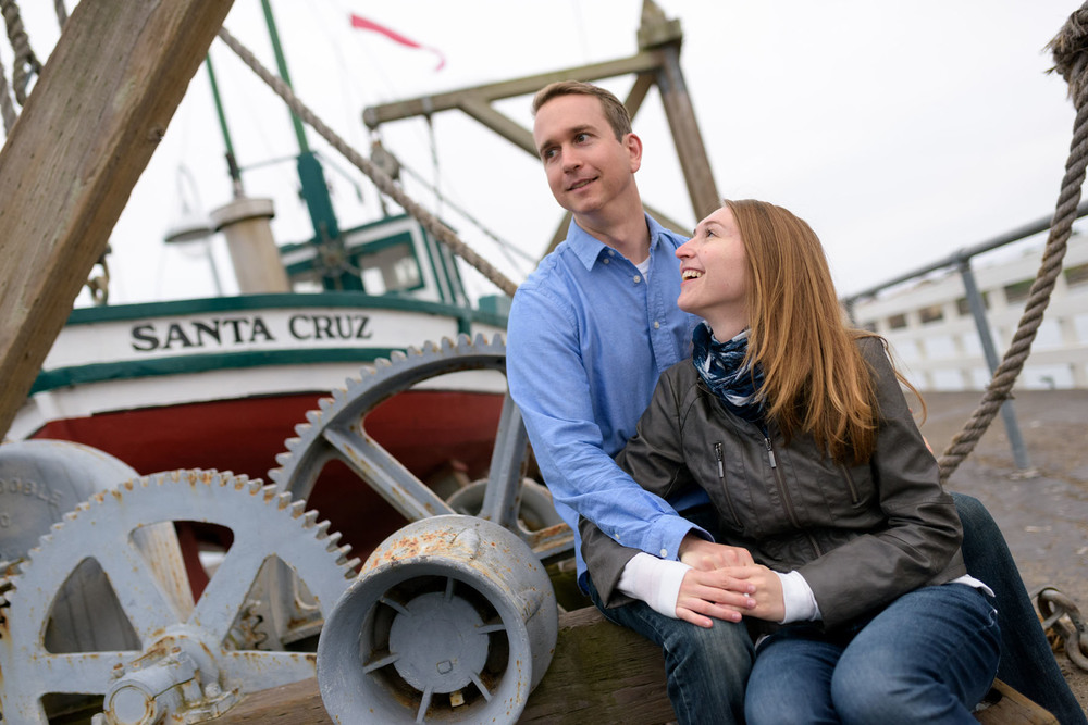 Santa Cruz engagement photos on the wharf