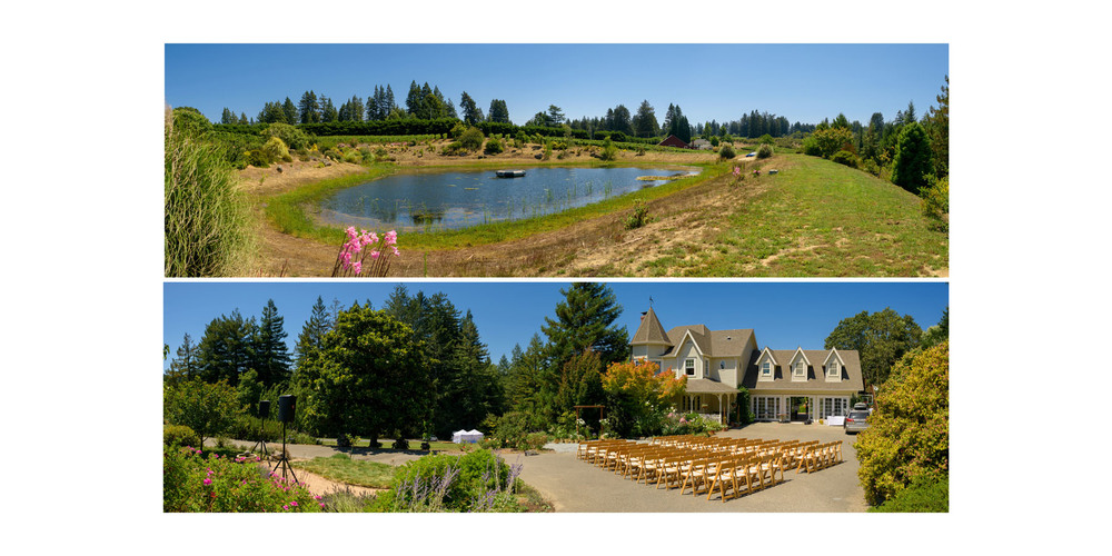Panoramic photos of the property - Private Estate wedding in Sebastopol, CA - by Bay Area wedding photographer Chris Schmauch