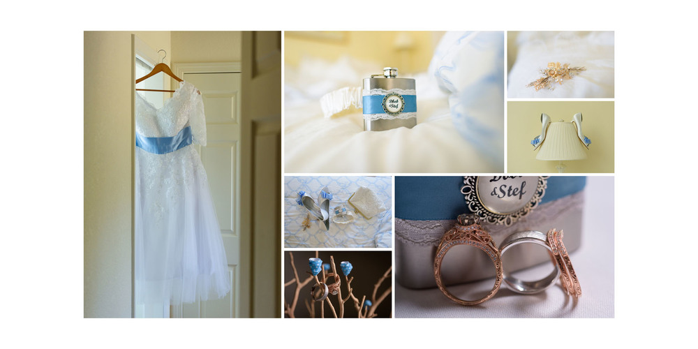 Details - rings, dress, shoes, jewelry - Private Estate wedding in Sebastopol, CA - by Bay Area wedding photographer Chris Schmauch
