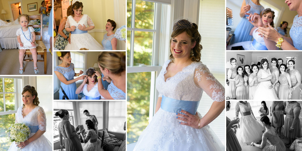 Bride getting dressed, group shots - Private Estate wedding in Sebastopol, CA - by Bay Area wedding photographer Chris Schmauch