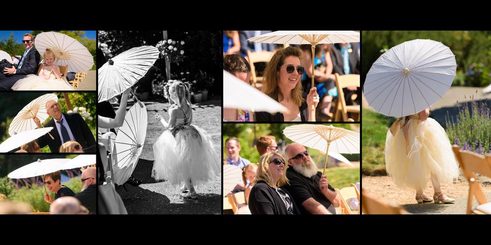 Parasol candids - Private Estate wedding in Sebastopol, CA - by Bay Area wedding photographer Chris Schmauch