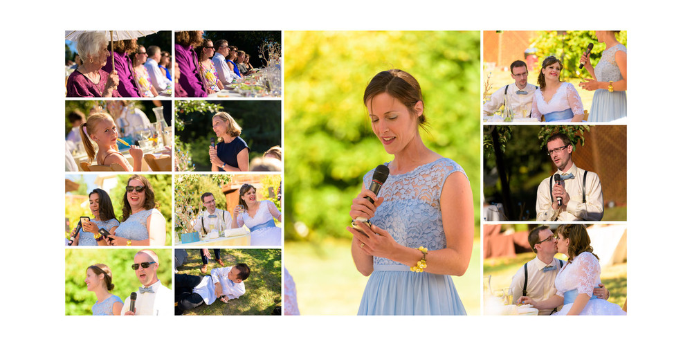 Toasts and speeches - Private Estate wedding in Sebastopol, CA - by Bay Area wedding photographer Chris Schmauch