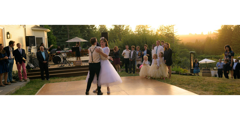 First dance - Private Estate wedding in Sebastopol, CA - by Bay Area wedding photographer Chris Schmauch