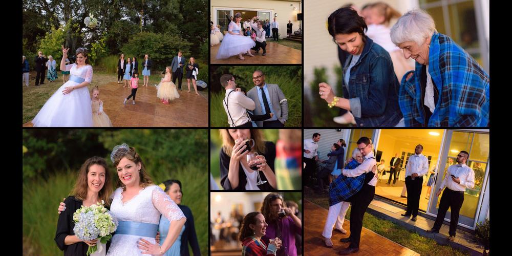 Dancing with grandma - Private Estate wedding in Sebastopol, CA - by Bay Area wedding photographer Chris Schmauch