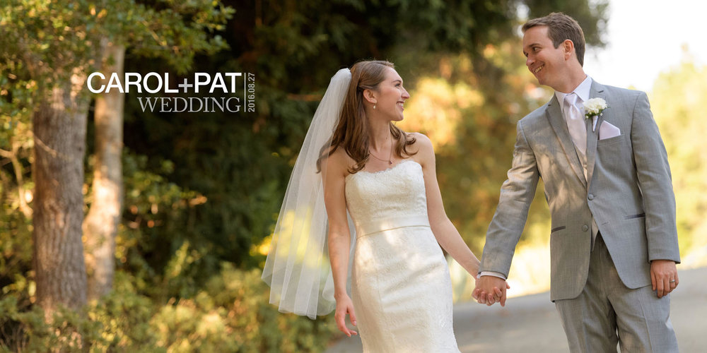 Bride and groom walking hand in hand - Kennolyn Wedding Photos in Soquel - by Bay Area wedding photographer Chris Schmauch