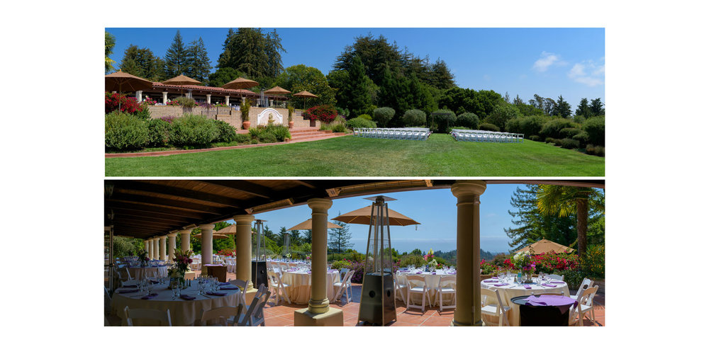 Panoramic details of the property - Kennolyn Wedding Photos in Soquel - by Bay Area wedding photographer Chris Schmauch