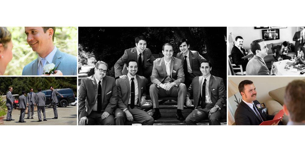 Groom and groomsmen getting ready - Kennolyn Wedding Photos in Soquel - by Bay Area wedding photographer Chris Schmauch