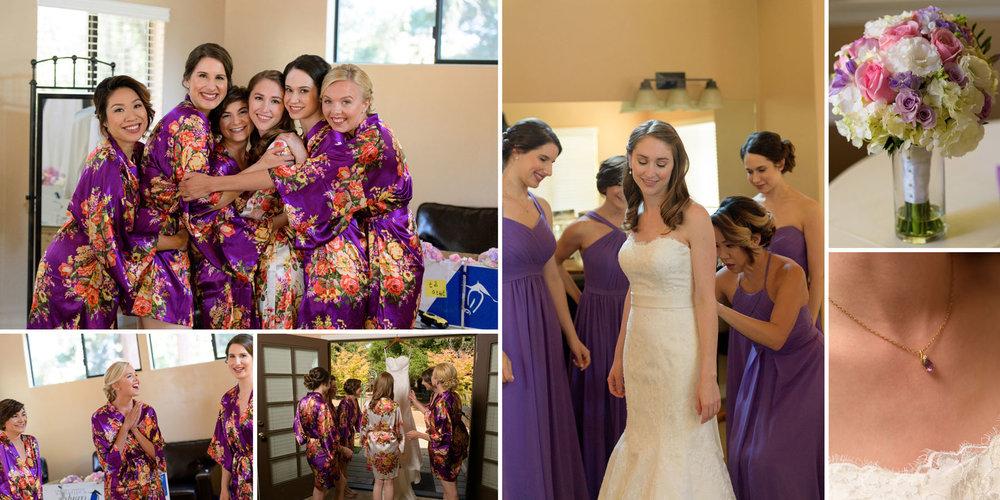 Bridesmaids getting ready - Kennolyn Wedding Photos in Soquel - by Bay Area wedding photographer Chris Schmauch