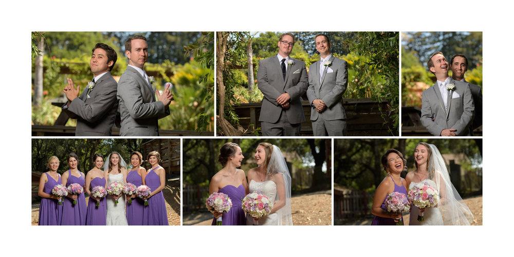 Fun bridal party photos - Kennolyn Wedding Photos in Soquel - by Bay Area wedding photographer Chris Schmauch