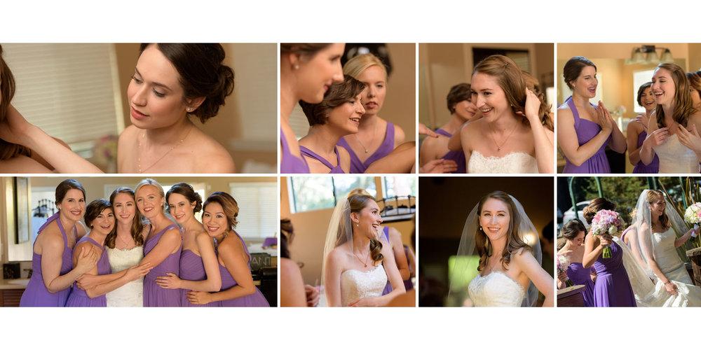 Girls getting ready - Kennolyn Wedding Photos in Soquel - by Bay Area wedding photographer Chris Schmauch
