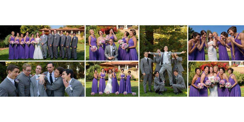 Bridal party fun - Kennolyn Wedding Photos in Soquel - by Bay Area wedding photographer Chris Schmauch