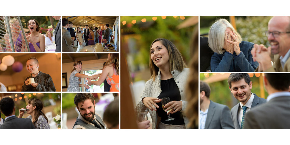 Candids of wedding guests - Kennolyn Wedding Photos in Soquel - by Bay Area wedding photographer Chris Schmauch