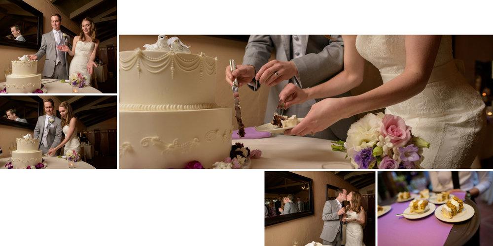 Cutting the cake - Kennolyn Wedding Photos in Soquel - by Bay Area wedding photographer Chris Schmauch