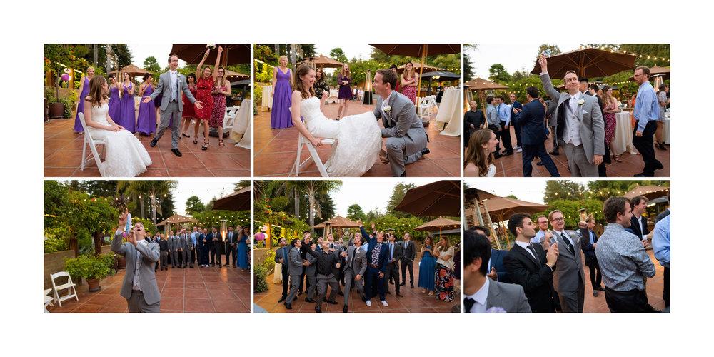 Garter Toss - Kennolyn Wedding Photos in Soquel - by Bay Area wedding photographer Chris Schmauch