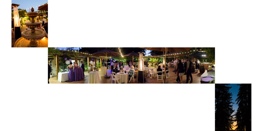 Details at night - Kennolyn Wedding Photos in Soquel - by Bay Area wedding photographer Chris Schmauch