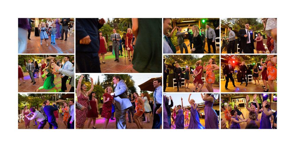 Dancing at night - Kennolyn Wedding Photos in Soquel - by Bay Area wedding photographer Chris Schmauch