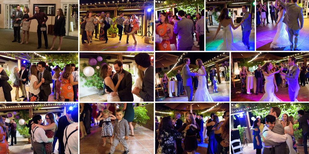 night Dancing  - Kennolyn Wedding Photos in Soquel - by Bay Area wedding photographer Chris Schmauch