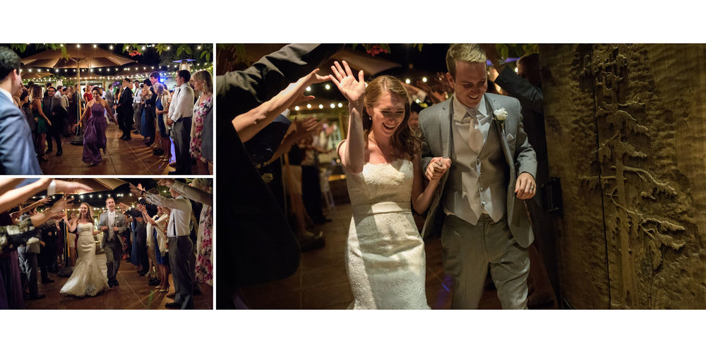 Bride and groom grand exit - Kennolyn Wedding Photos in Soquel - by Bay Area wedding photographer Chris Schmauch