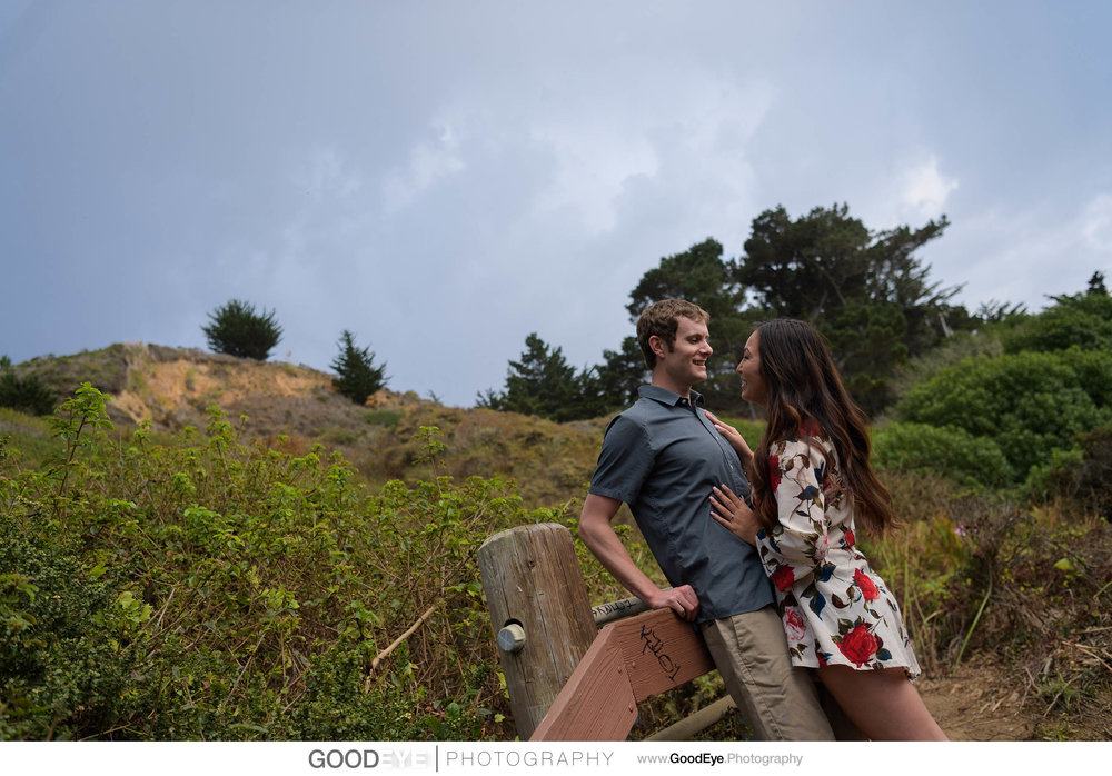 Montara - Gray Whale Cove Engagement Photos in the rain