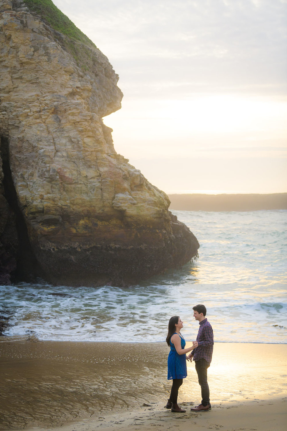 Santa Cruz - Shark Fin Cove Marriage Proposal / Engagement Photo