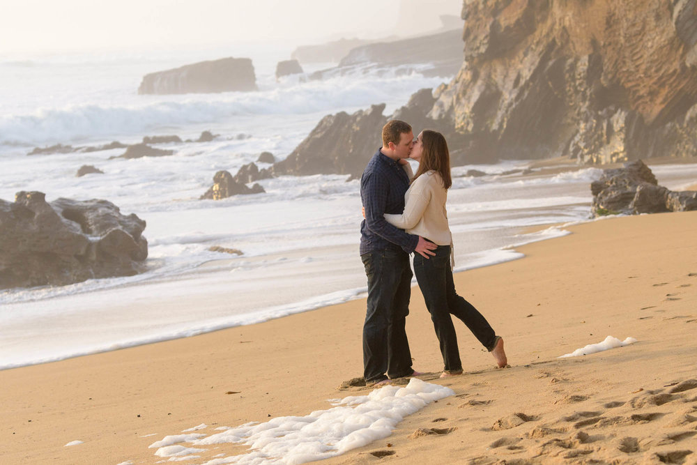 Panther Beach Santa Cruz Engagement Photography - Jenelle and Ty