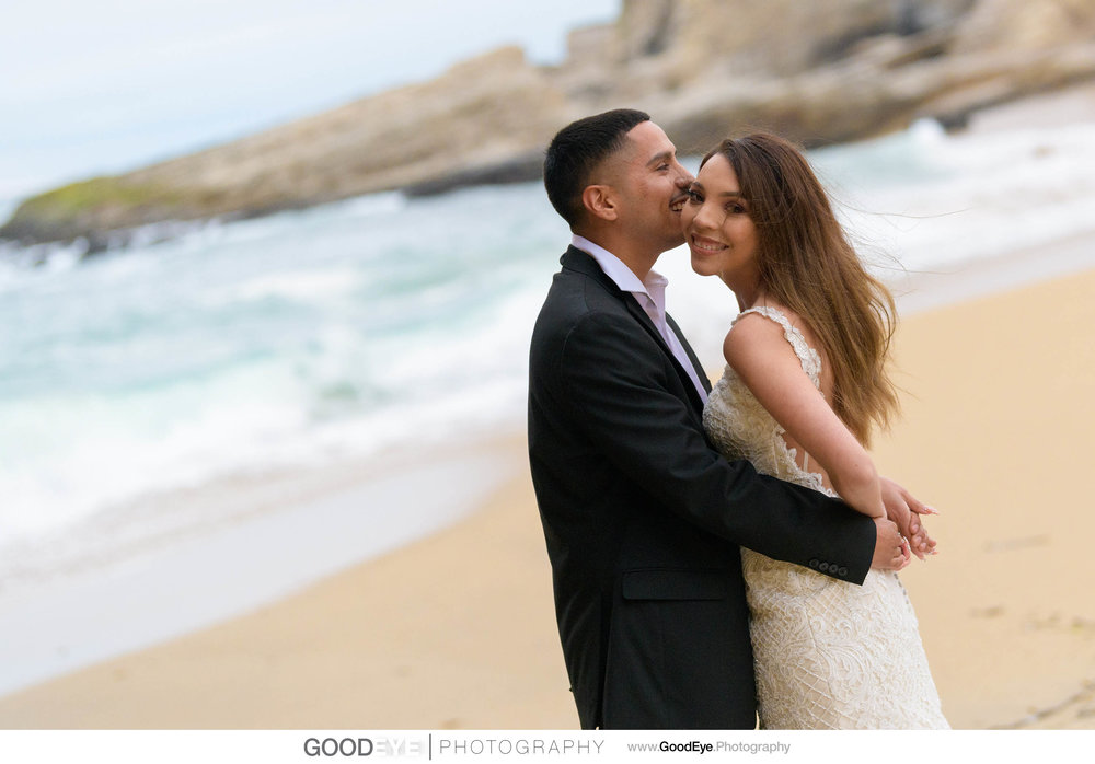 Trash the Dress Bridal Portraits at Panther Beach in Santa Cruz,