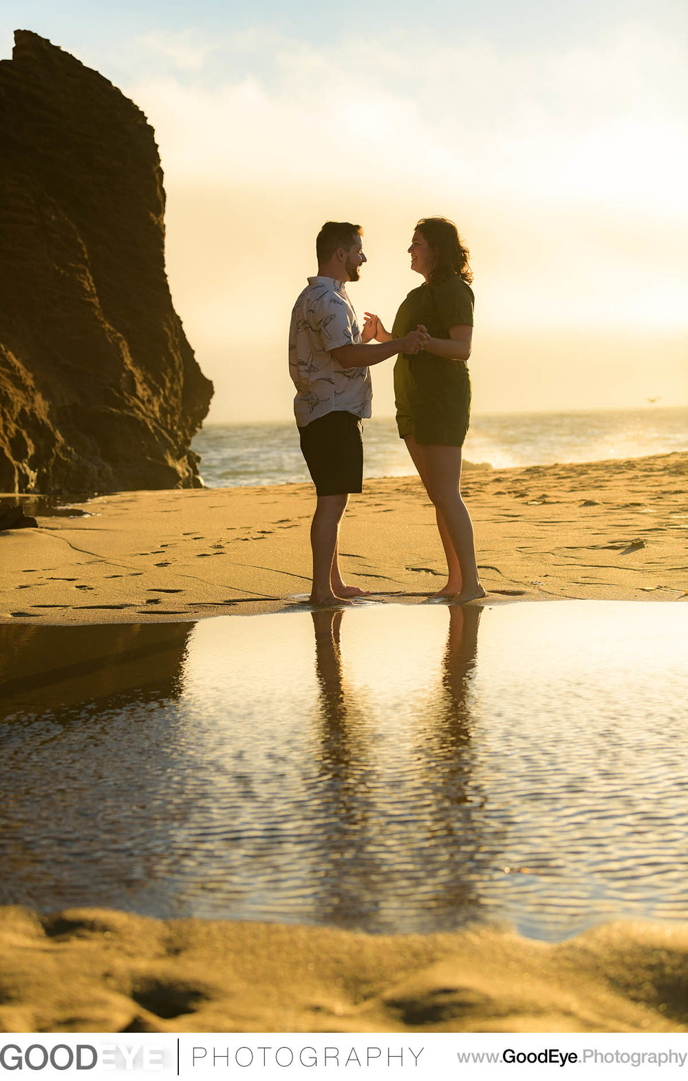 Panther Beach Santa Cruz engagement photos - Kate and Ryan - pho