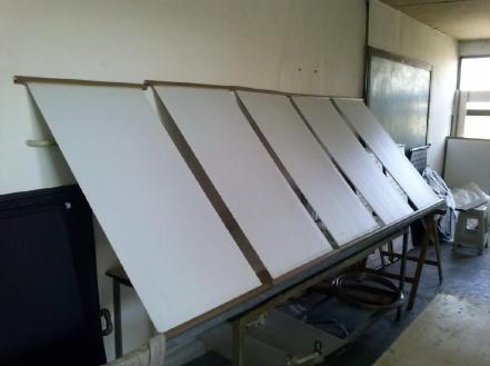 The heating panels (photo: Artur V. Cordeiro)