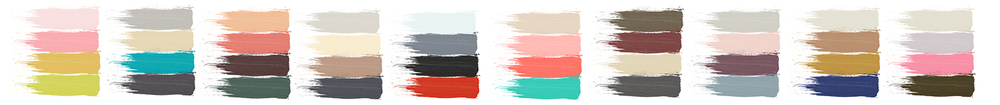 Some examples of complimentary colors palettes: