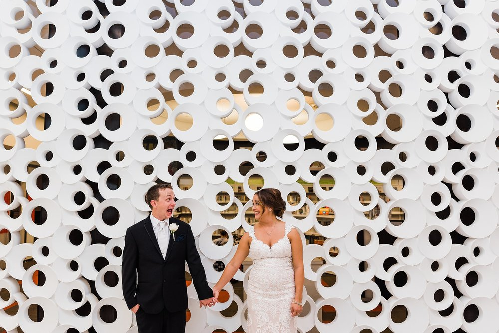 Cedar Rapids Library Wedding in Iowa