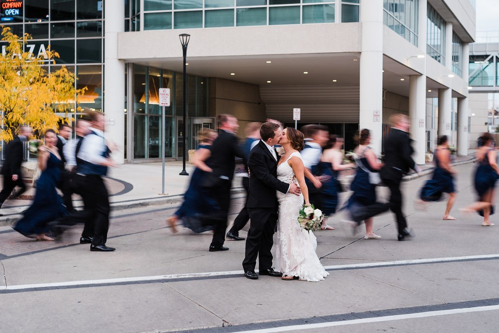 Downtown Cedar Rapids Iowa Wedding